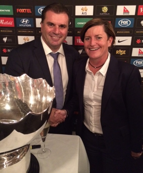 With Ange Postecoglou at a reception honouring the great success of the the Socceroos at the Asian Cup!!