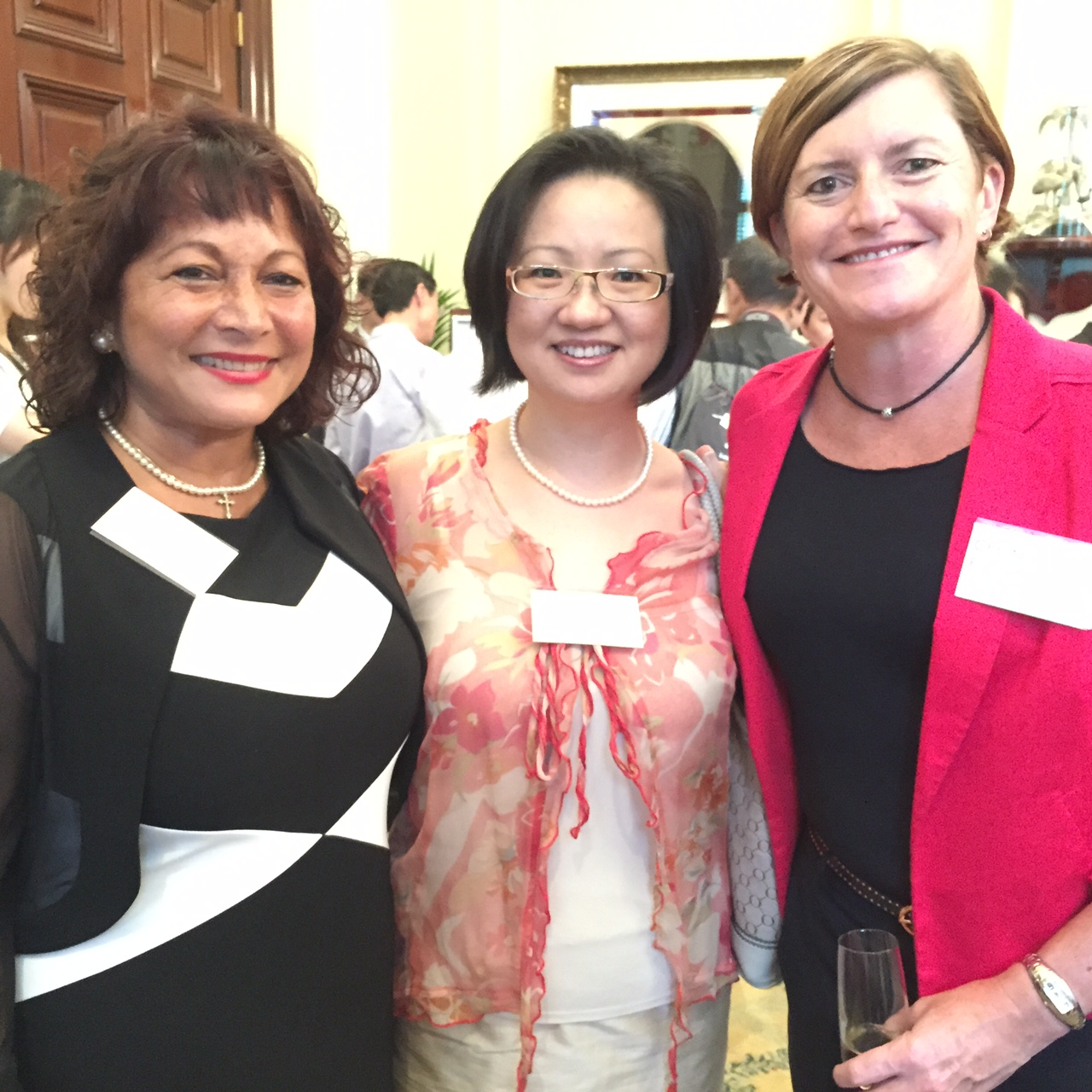 Christine Forster, Beverly Pinder-Mortimer and Victoria Qui @ CNY Reception 22-02-15