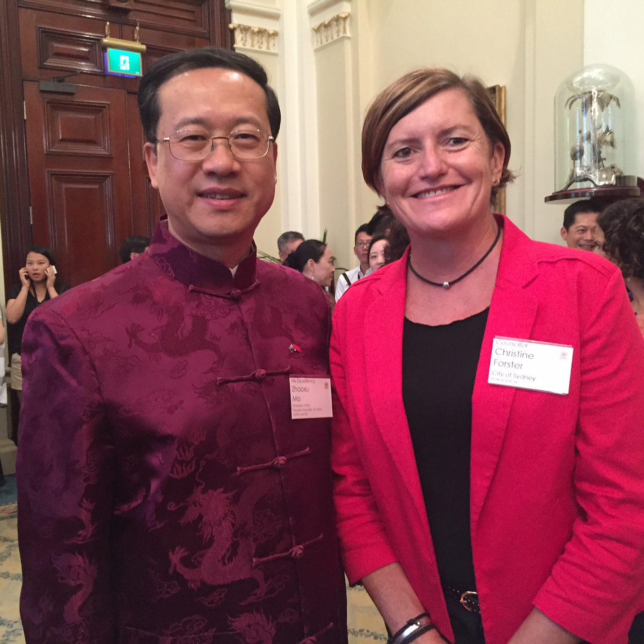 Christine Forster & His Excellency Zhaoxu Ma @ CNY Reception 22-02-15