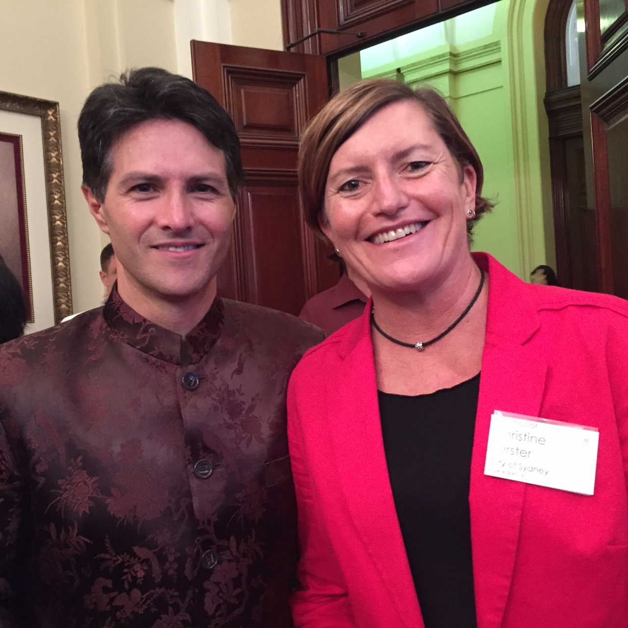 Christine Forster & Minister Dominello @ CNY Reception 22-02-15
