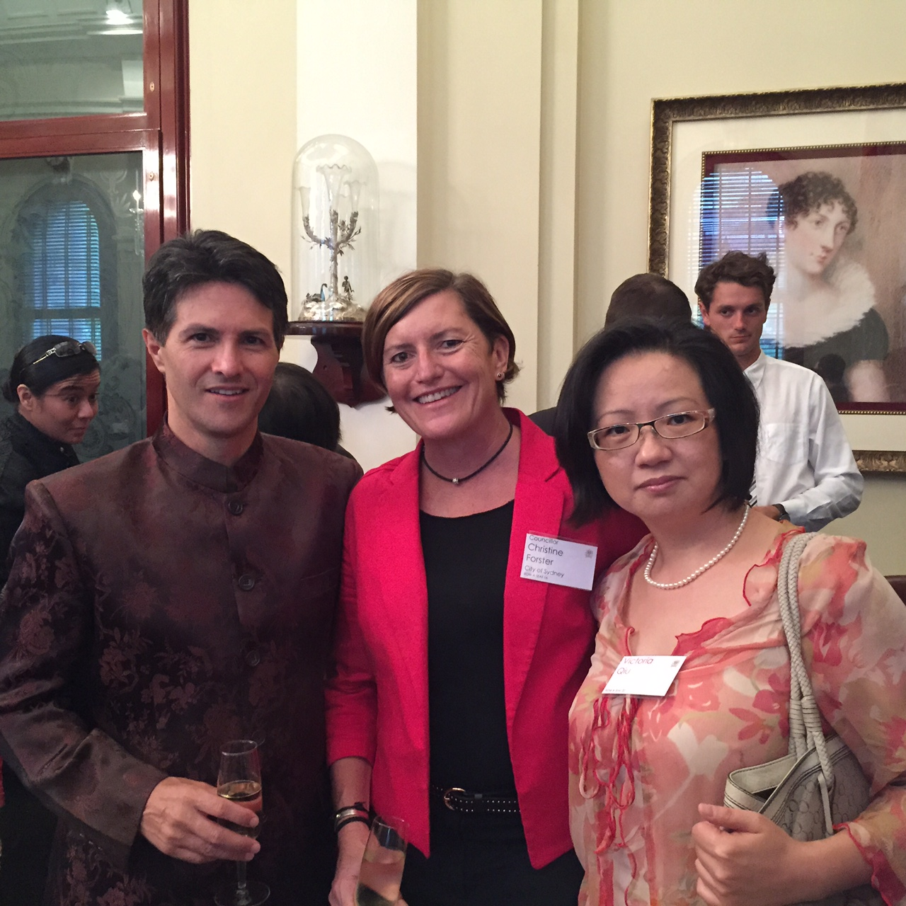 Christine Forster, Minister Dominello and Victoria Qui @ CNY Reception 22-02-15