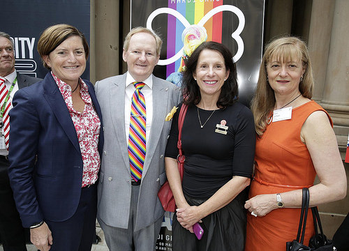 Christine Forster, Peter Cavanagh, Jilly Gibson & Toni Zeltzer & Rainbow Flag Raising 20-02-15