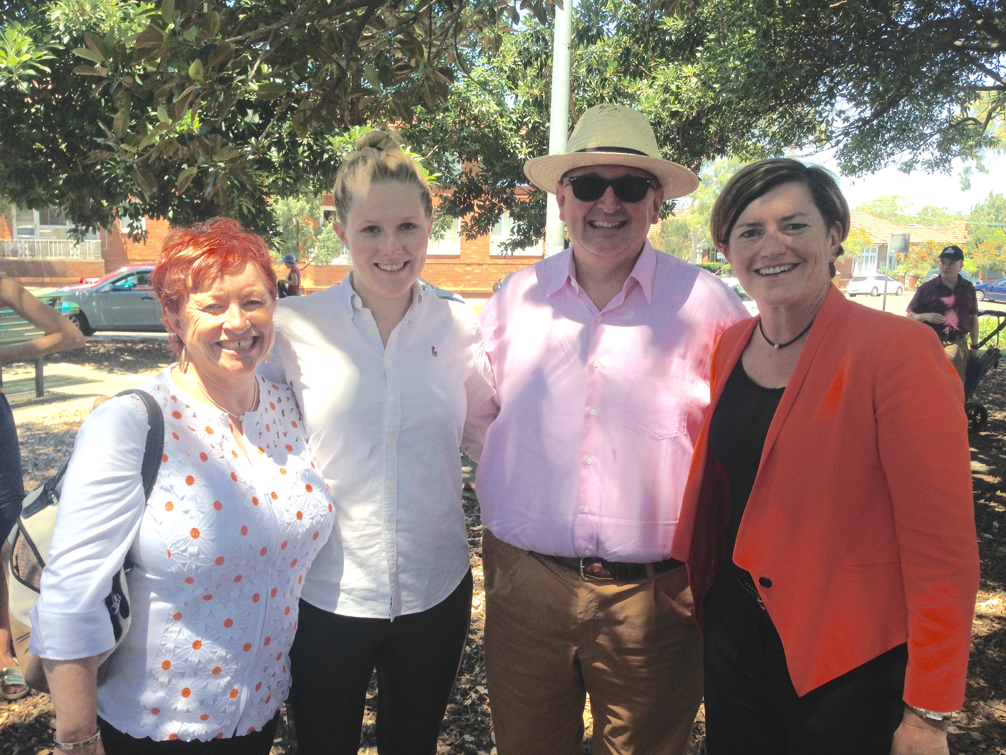 At the launch Rachael Wheldall's campaign for the state seat of Newtown (L-R: Virginia Edwards, Rachael Wheldall, Don Harwin, Christine Forster)
