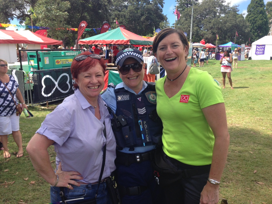 Christine Forster & Virginia Edwards @ Mardi Gras Fair Day 2015