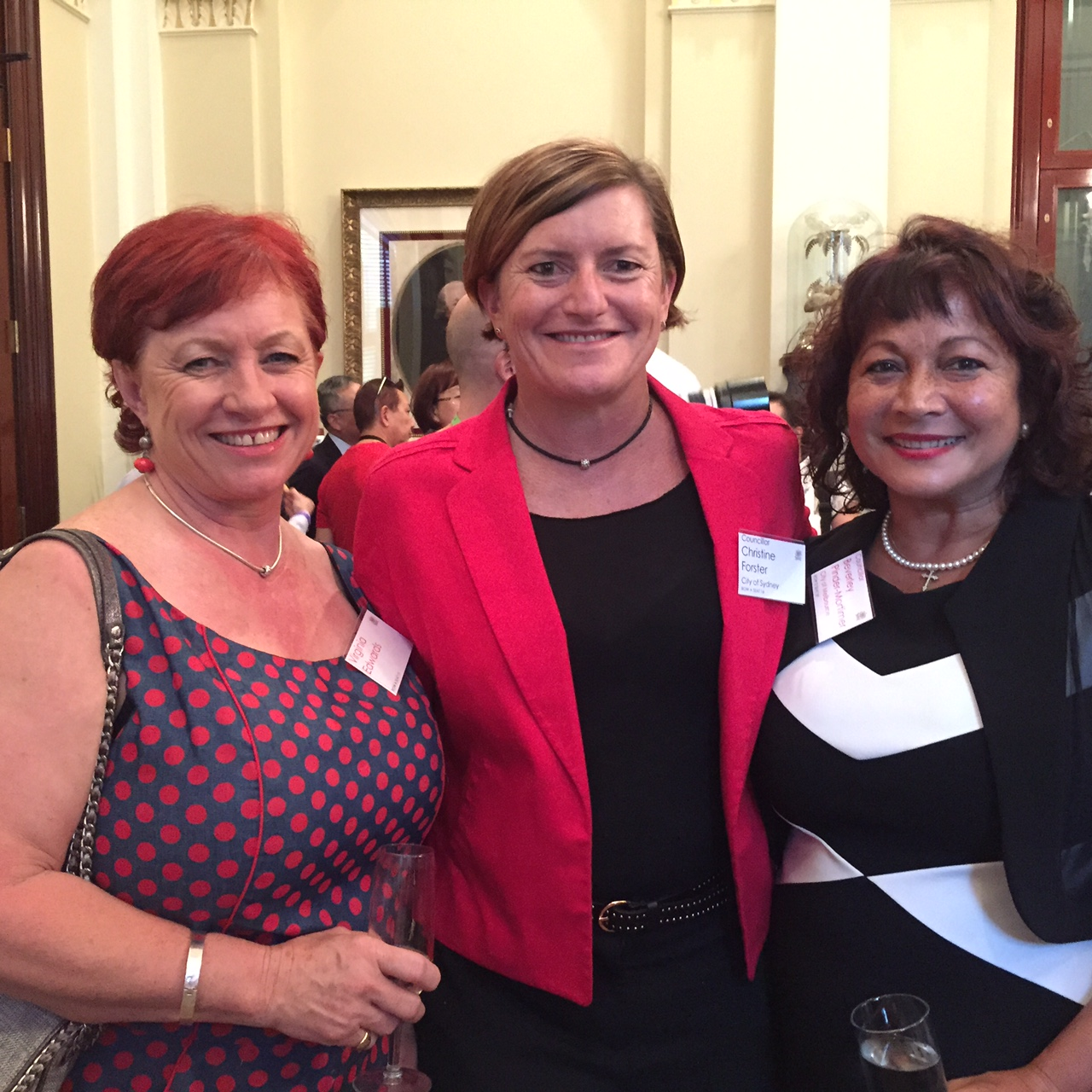 Christine Forster, Virginia Edwards & Beverly Pinder-Mortimer @ CNY Reception 22-02-15