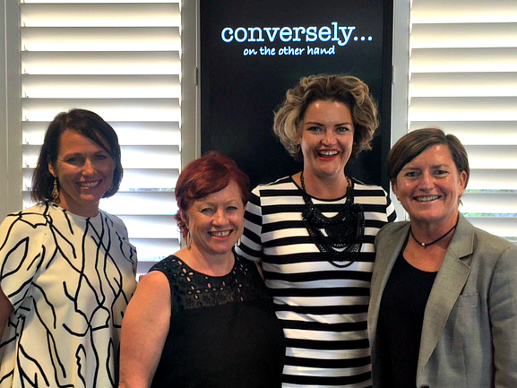 Virginia and I thoroughly enjoyed our panel discussion at Conversely, where we talked about coming out later in life (L-R: Emily Kucukalic, Virginia Edwards, Kate White, Christine Forster)