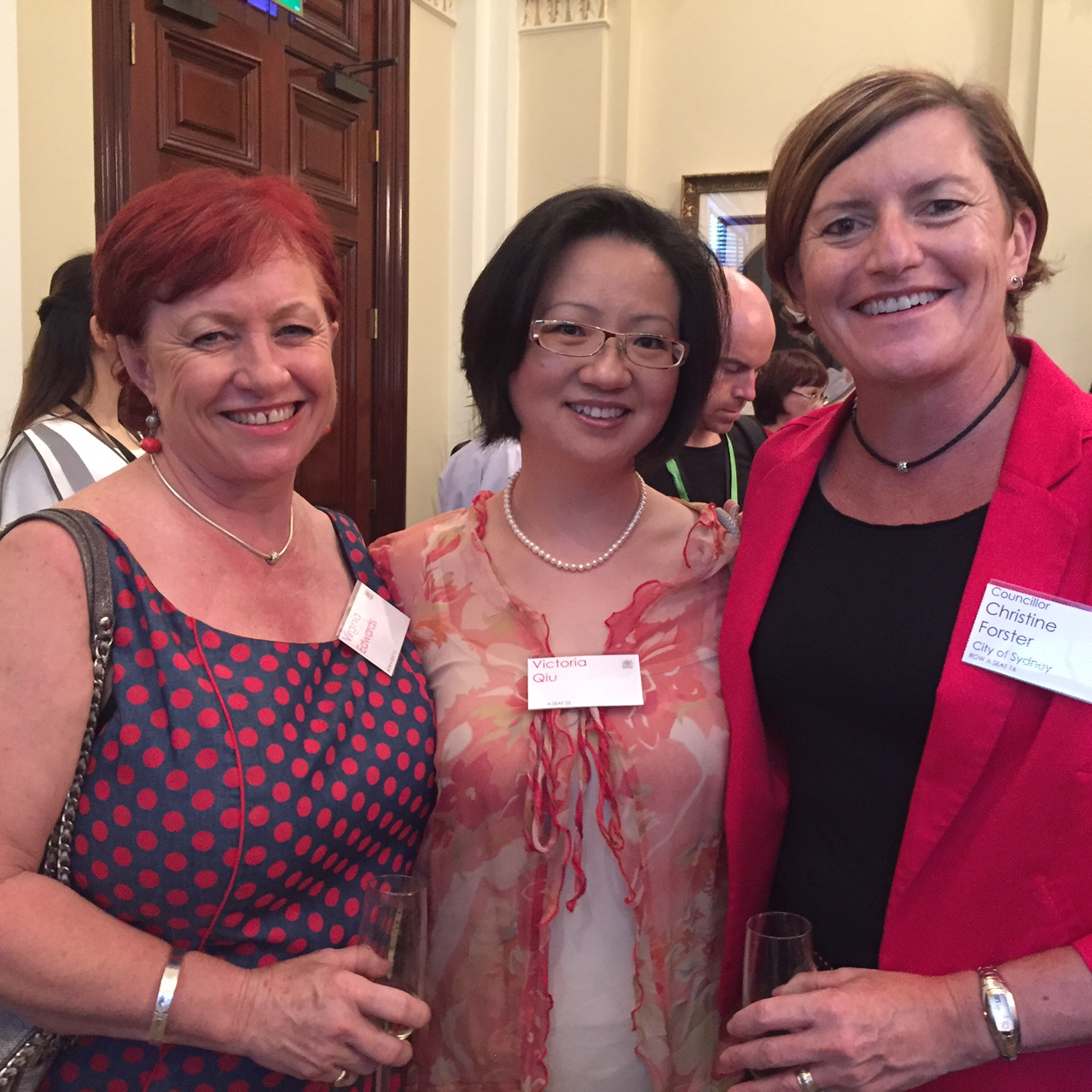 Christine Forster, Virginia Edwards & Victoria Qui @ CNY Reception 22-02-15