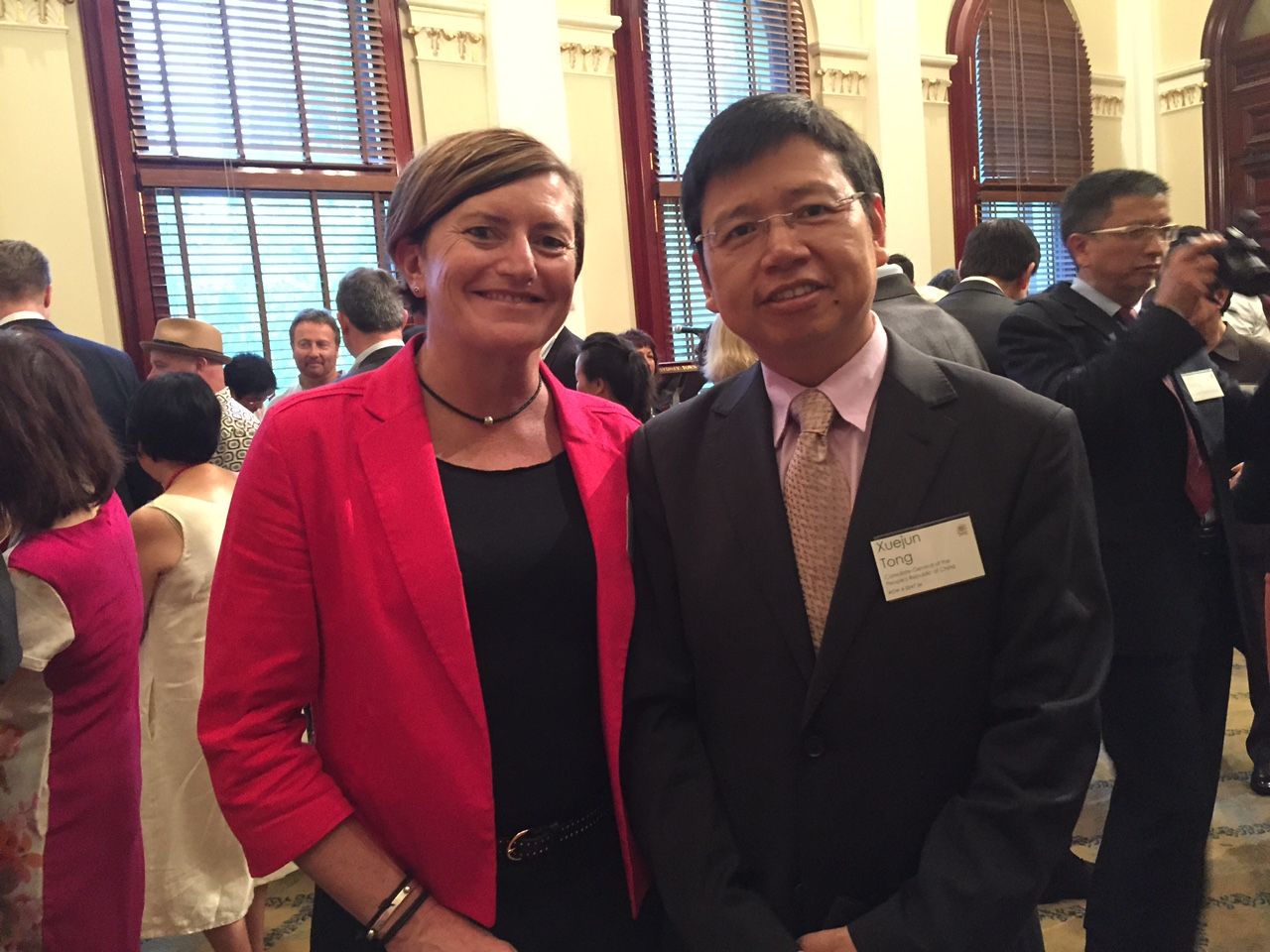 Christine Forster & Xuejun Tong @ CNY Reception 22-02-15