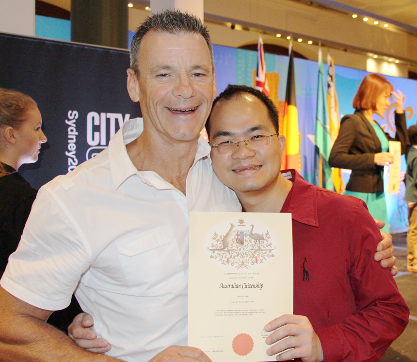 Wally Salinger & San @ Citizenship Ceremony 13-02-15