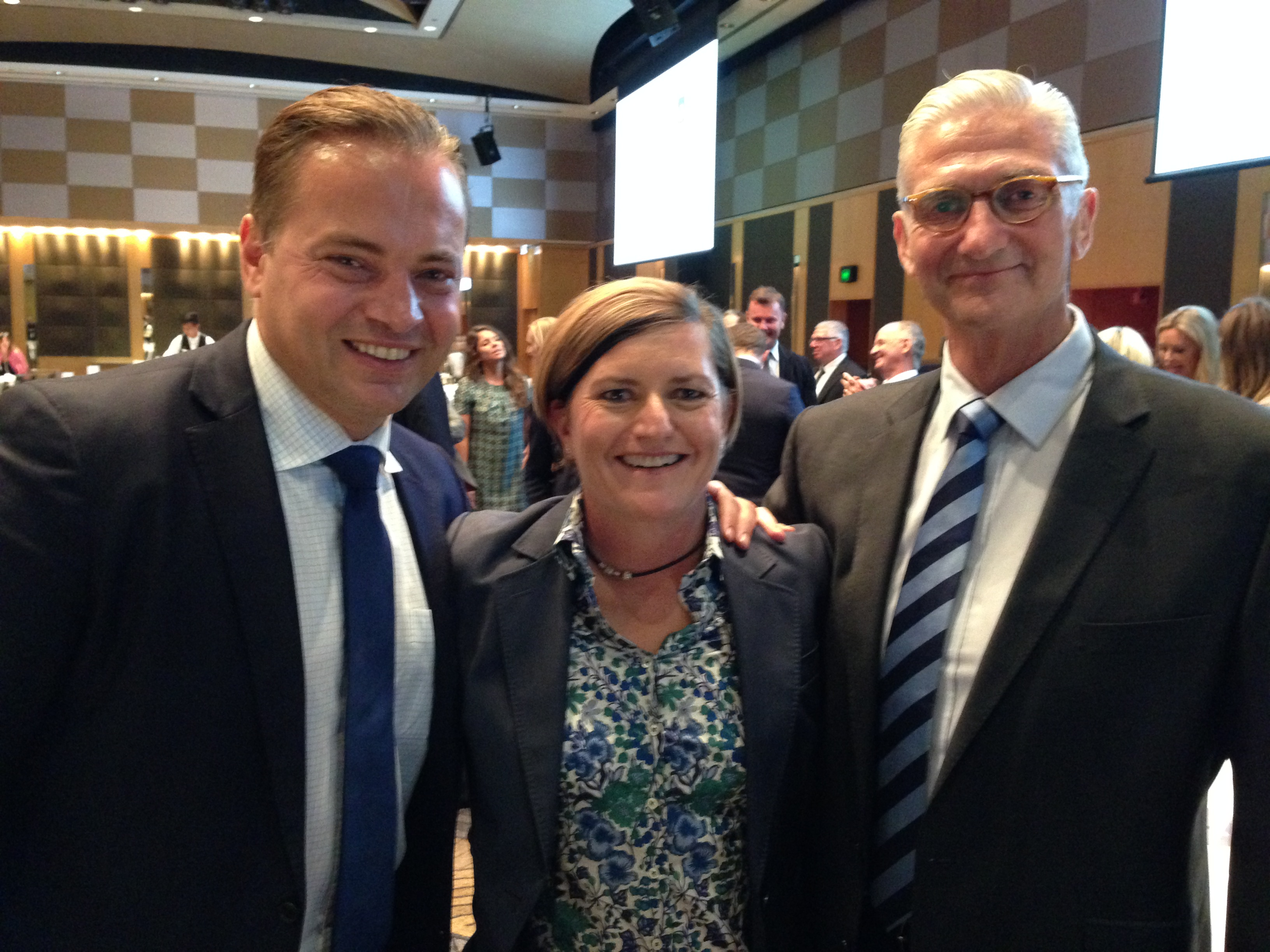Christine Forster, Mark Bosnich & Mark Chester @ Sydney FC In Business Lunch 05-03-15